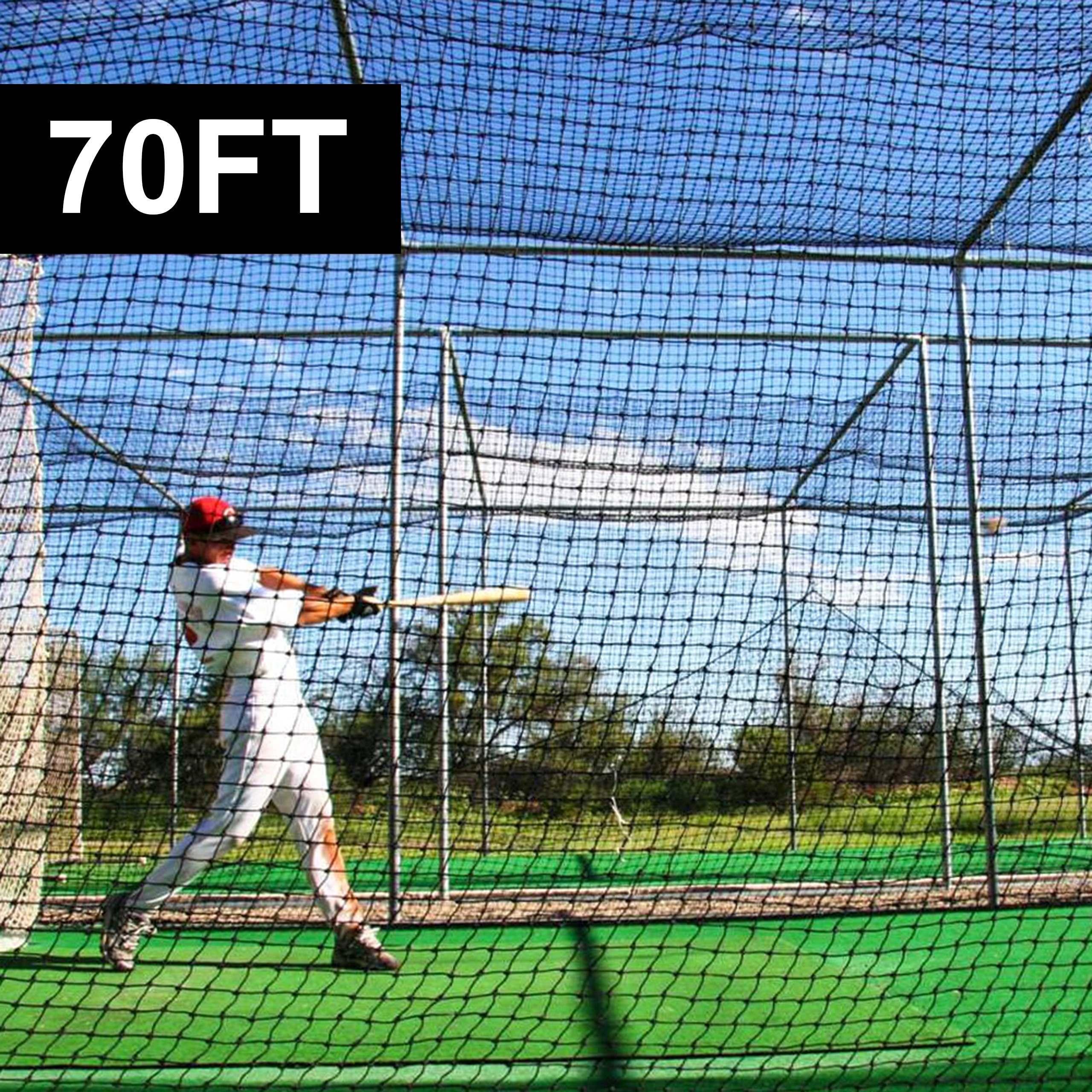 70ft x 14ft Baseball Batting Cage Nets #42 | Net World Sports