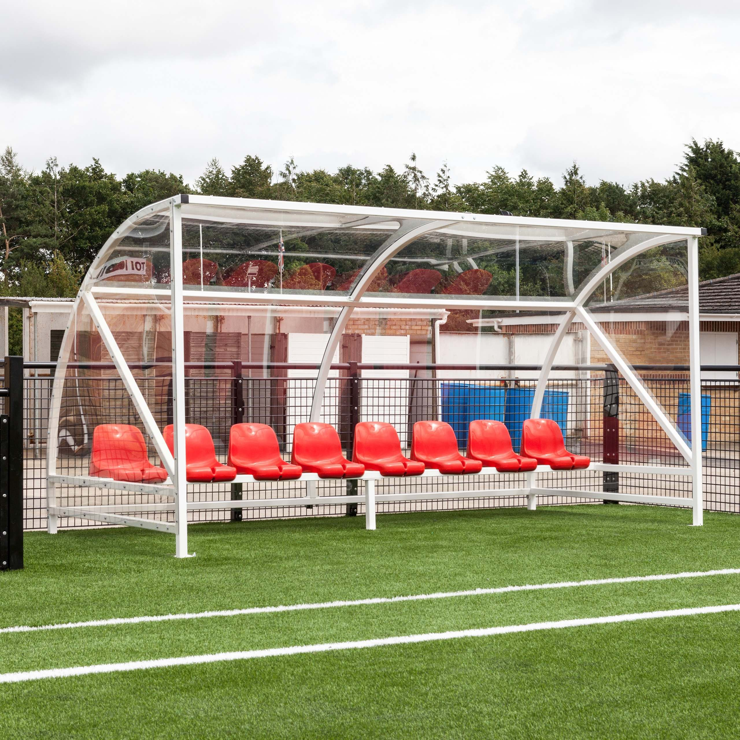 Athletic Field Shelters : Olympia soccer team shelter bucket seat net world sports