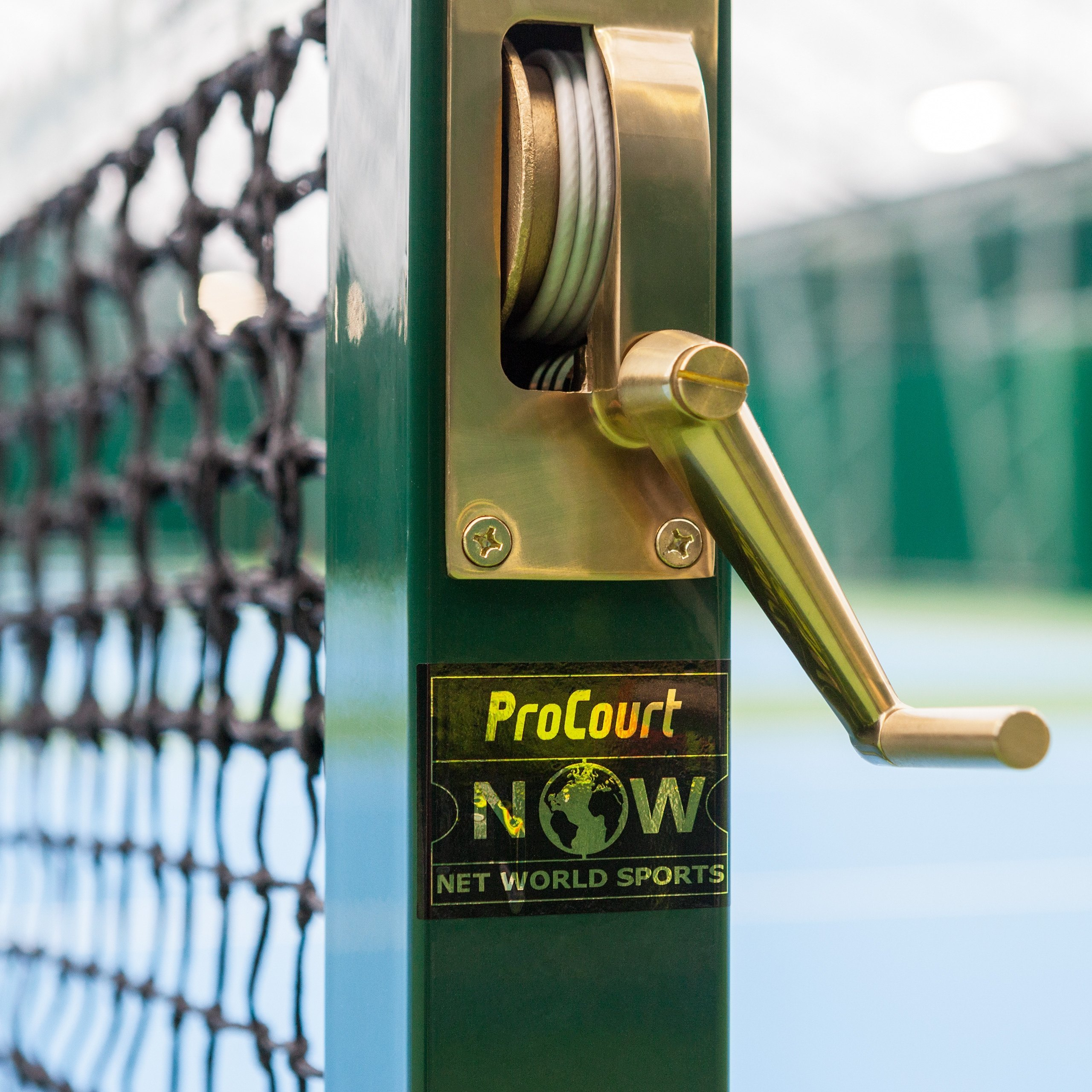 Vermont Square Tennis Post - Brass Winder