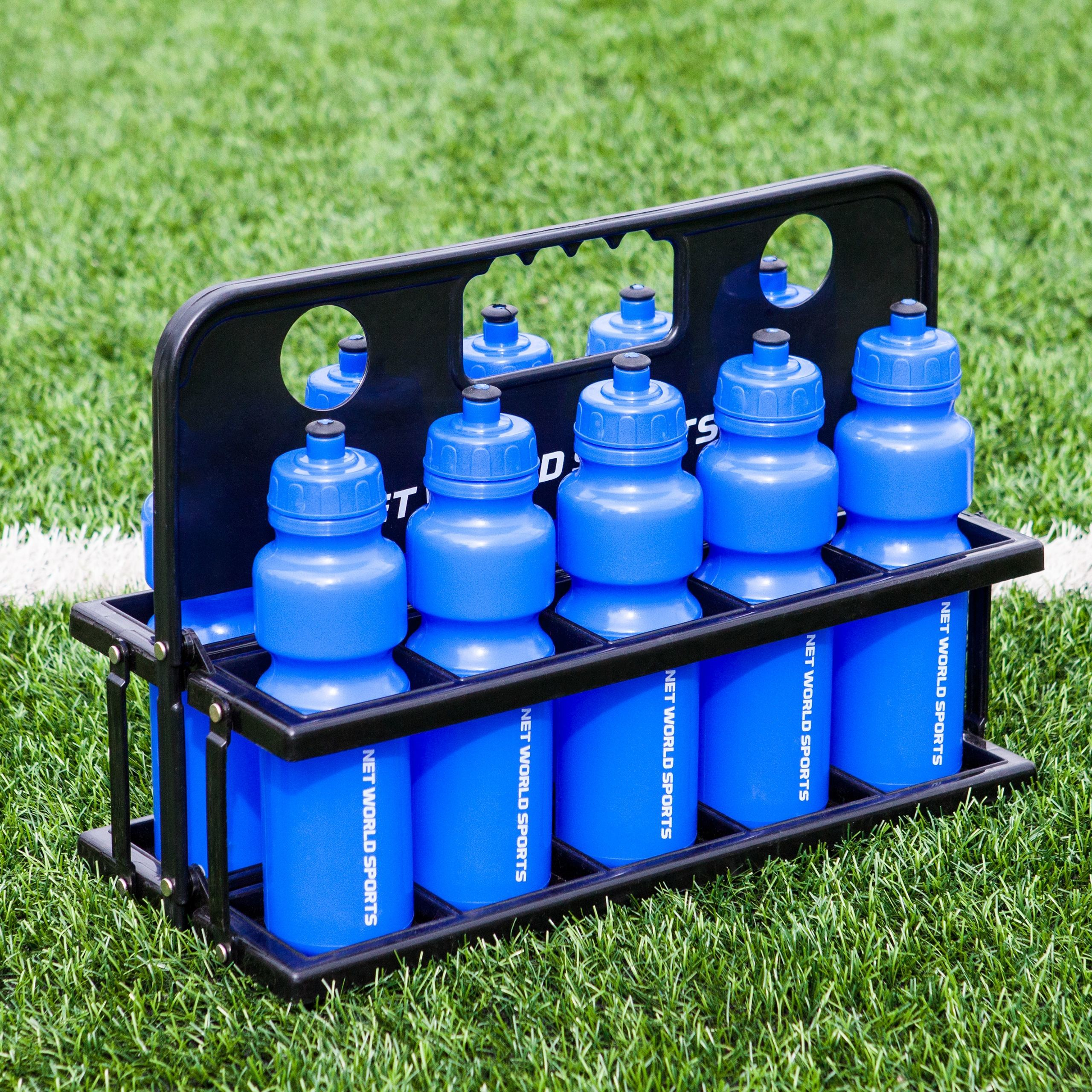Water Bottle Set: 10 Water Bottles & Folding Drinks Carrier